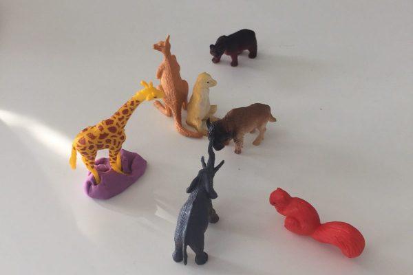animal figures on table